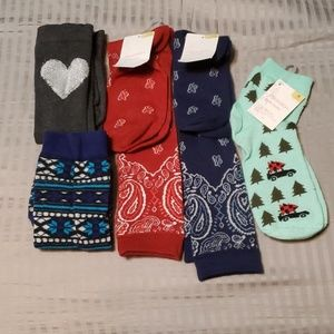 Lot of 5 pairs of socks